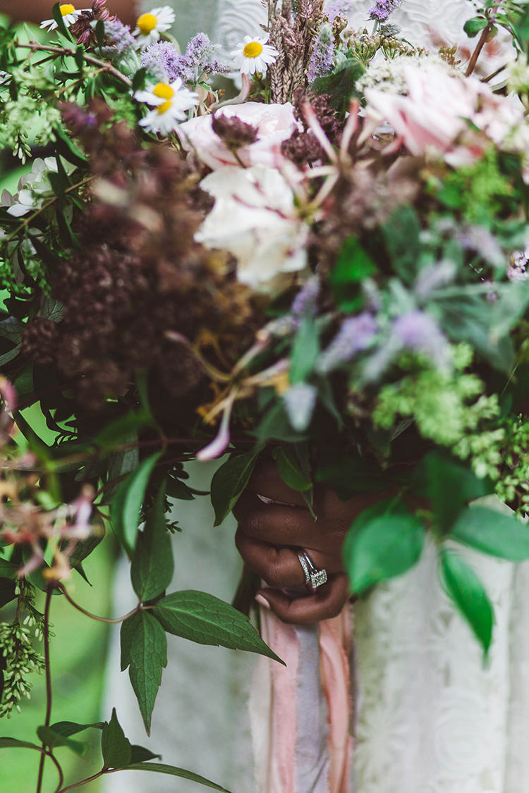 Wild Natural Whimsical Bouquet Bride Bridal Flowers Greenery Foliage Beautiful Walled Garden Wedding Ideas http://www.brittamarie-photography.com/