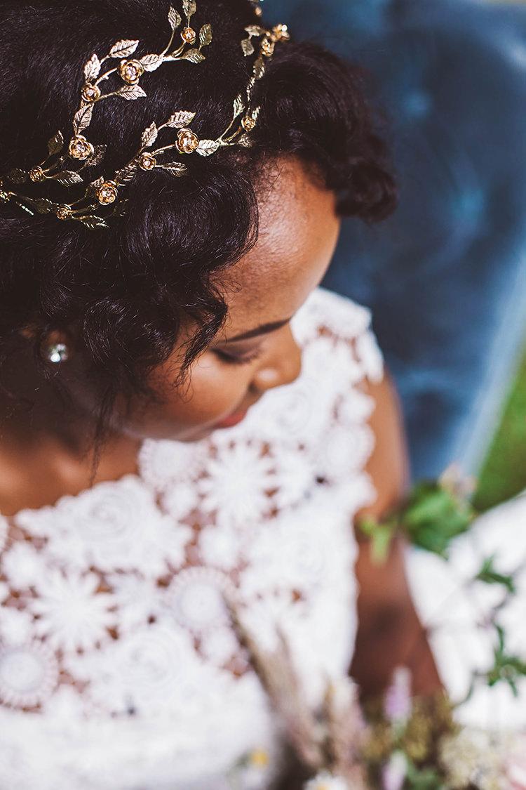 Gold Hair Vine Accessory Bride Bridal Beautiful Walled Garden Wedding Ideas http://www.brittamarie-photography.com/