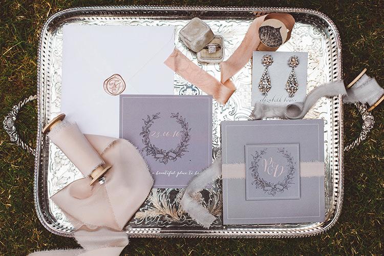 Stationery Ribbons Invitations Soft Pretty Ring Box Beautiful Walled Garden Wedding Ideas http://www.brittamarie-photography.com/