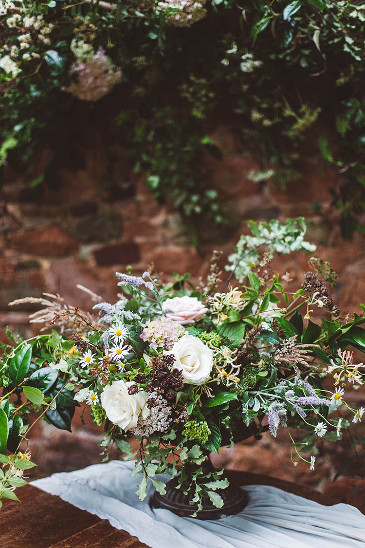Flowers Greenery Foliage Decor Table Centrepiece Beautiful Walled Garden Wedding Ideas http://www.brittamarie-photography.com/