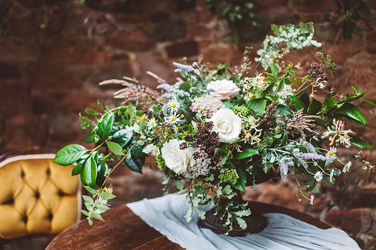 Whimsical Flowers Wild Natural Vase Greenery Foliage Beautiful Walled Garden Wedding Ideas http://www.brittamarie-photography.com/