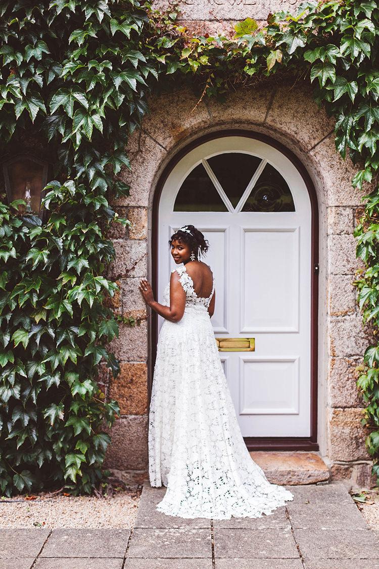 Long Lace Dress Gown Bride Bridal Modern Beautiful Walled Garden Wedding Ideas http://www.brittamarie-photography.com/
