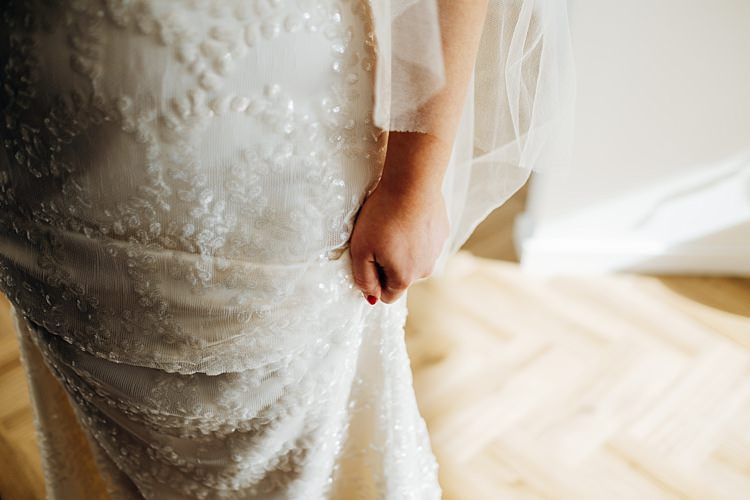 Halfpenny London Beaded Dress Gown Bride Bridal Quirky Cool City Party Wedding http://www.mariannechua.com/