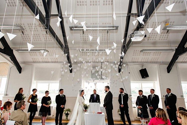 Modern Geometric Theatre Monochrome Wedding http://www.babbphoto.com/
