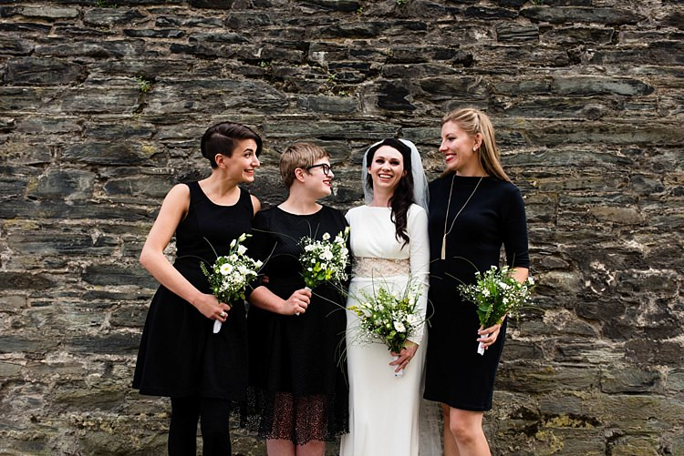 Mismatched Black Bridesmaid Dresses Modern Geometric Theatre Monochrome Wedding http://www.babbphoto.com/