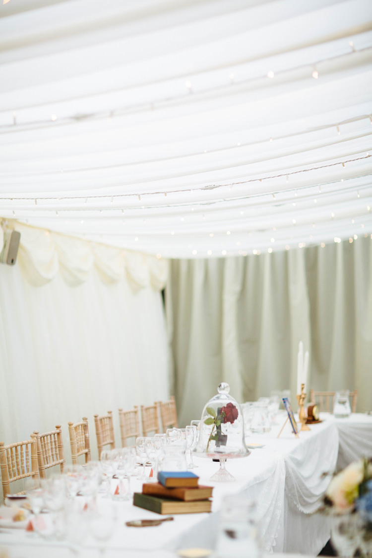Marquee Fairy Lights Long Tables Enchanted English Country Garden Wedding Disney http://lauradebourdephotography.com/
