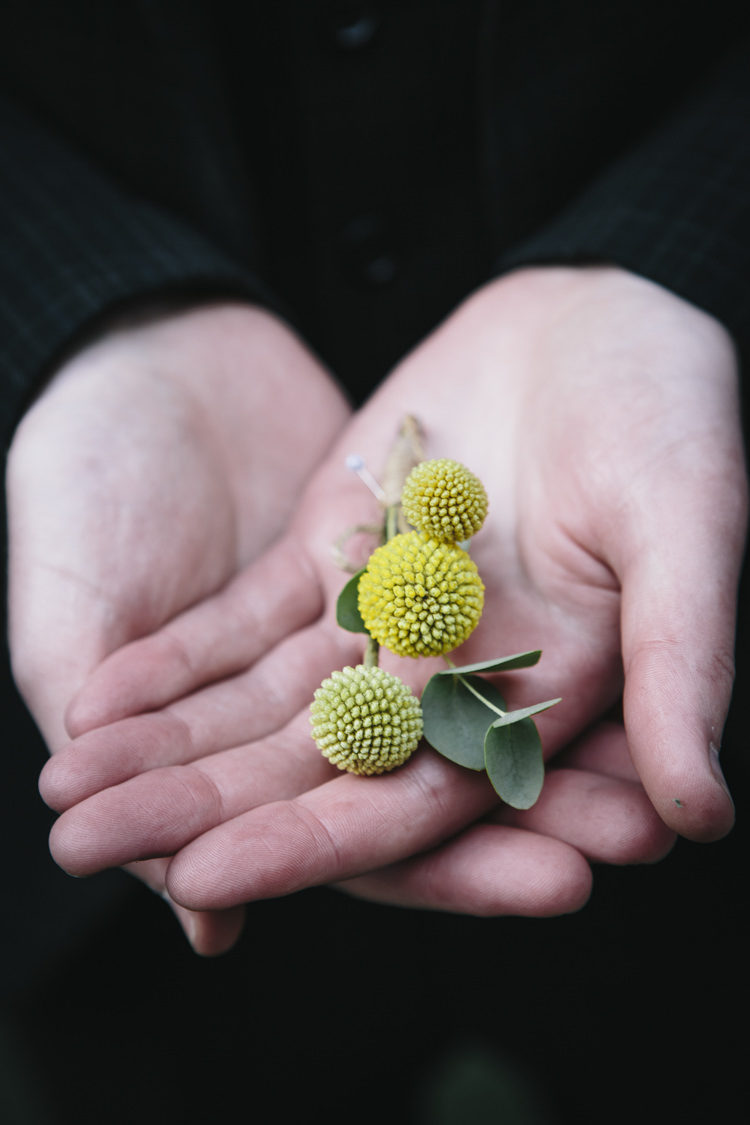 Billy Ball Buttonhole Groom Stylish Clean Modern City Wedding https://mybeautifulbride.co.uk/