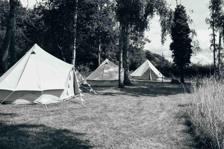 Glamping Bell Tents Indie Outdoorsy Camp Wedding http://emilytylerphotography.com/