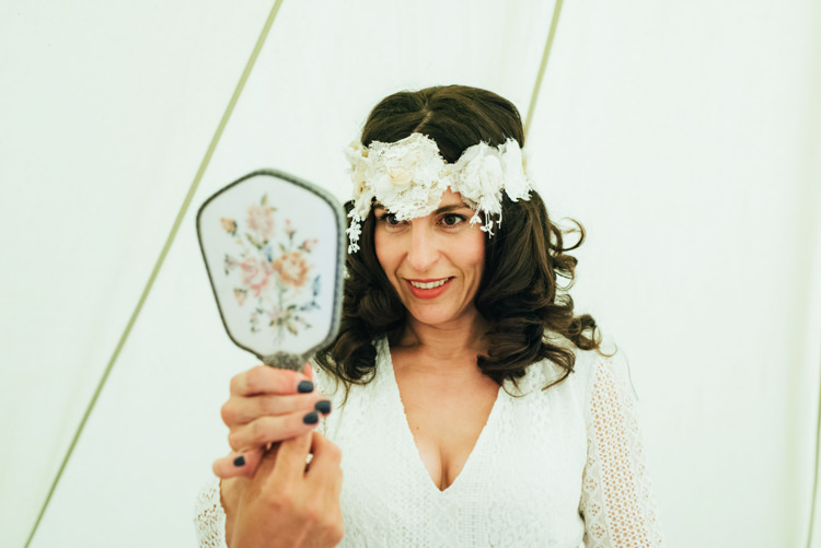 Boho Headdress Accessory Bride Bridal Forehead Indiebride Indie Outdoorsy Camp Wedding http://emilytylerphotography.com/