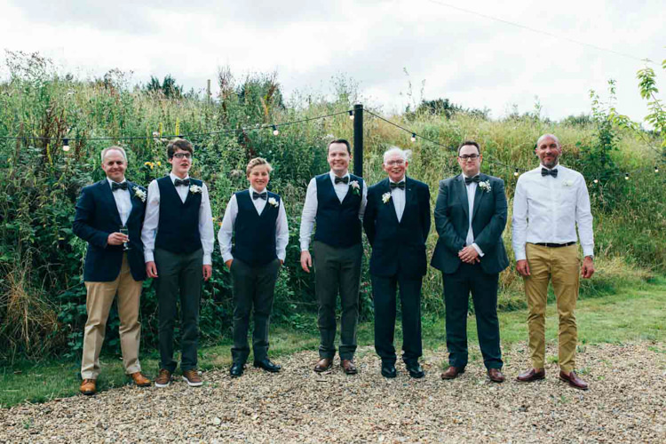 Groom Groomsmen Bow Tie Chino Waistcoats Indie Outdoorsy Camp Wedding http://emilytylerphotography.com/