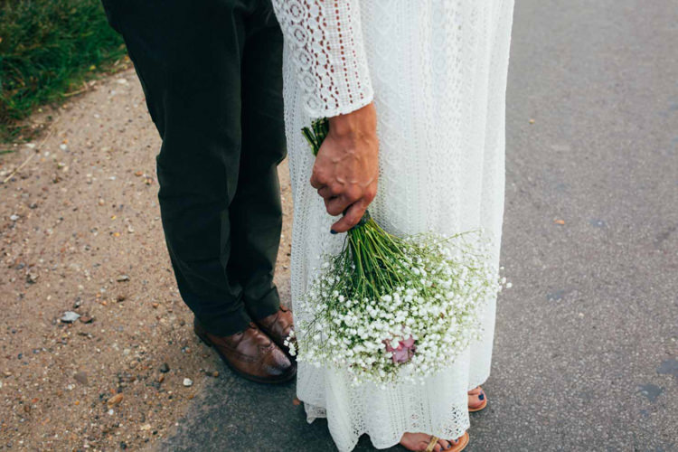 Gyp Gypsophila Baby Breath Bouquet Bride Bridal Indie Outdoorsy Camp Wedding http://emilytylerphotography.com/