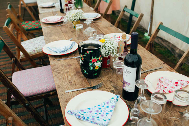 Long Wooden Rustic Tables Indie Outdoorsy Camp Wedding http://emilytylerphotography.com/