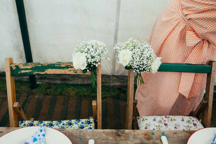 Chair Flowers Rustic Wooden Indie Outdoorsy Camp Wedding http://emilytylerphotography.com/