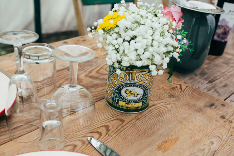 Tin Flowers Gyp Gypsophila Baby Breath Indie Outdoorsy Camp Wedding http://emilytylerphotography.com/