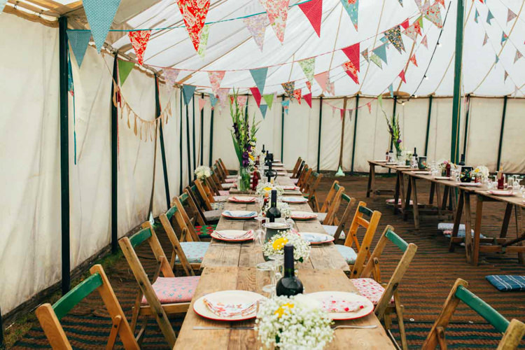Bunting Marquee Indie Outdoorsy Camp Wedding http://emilytylerphotography.com/