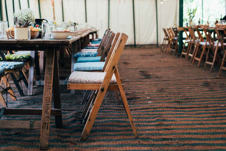 Wooden Rustic Tables Chairs Furniture Indie Outdoorsy Camp Wedding http://emilytylerphotography.com/