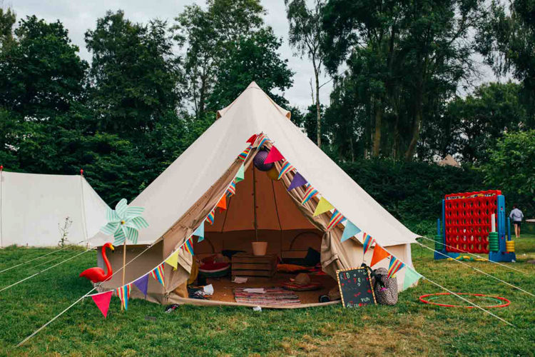 Kids Children Bell Tent Indie Outdoorsy Camp Wedding http://emilytylerphotography.com/