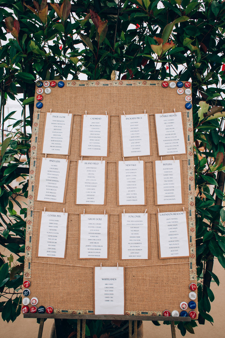 Hessian Pegs Seating Table Plan Chart Hand Made Red White Blue Farm Wedding http://www.caseyavenue.co.uk/