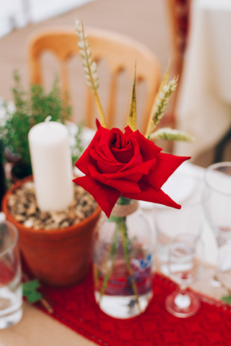 Rose Flowers Decor Hand Made Red White Blue Farm Wedding http://www.caseyavenue.co.uk/