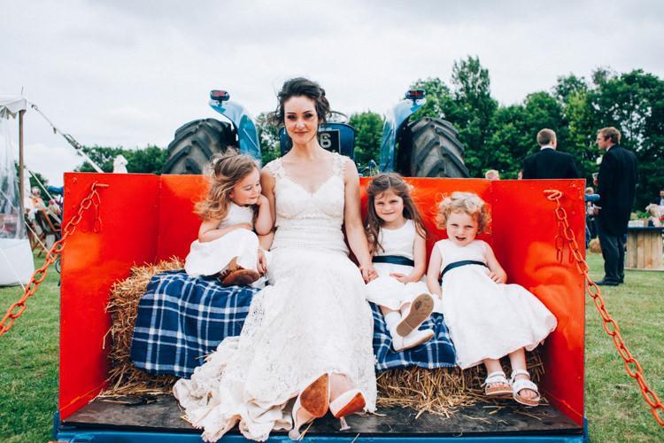 Flower Girls Dresses Hand Made Red White Blue Farm Wedding http://www.caseyavenue.co.uk/