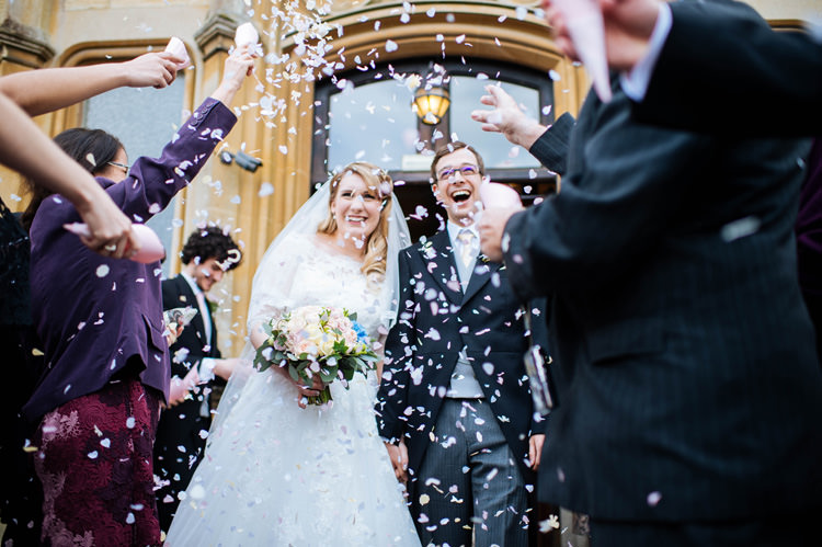 Confetti Throw Enchanted English Country Garden Wedding Disney http://lauradebourdephotography.com/