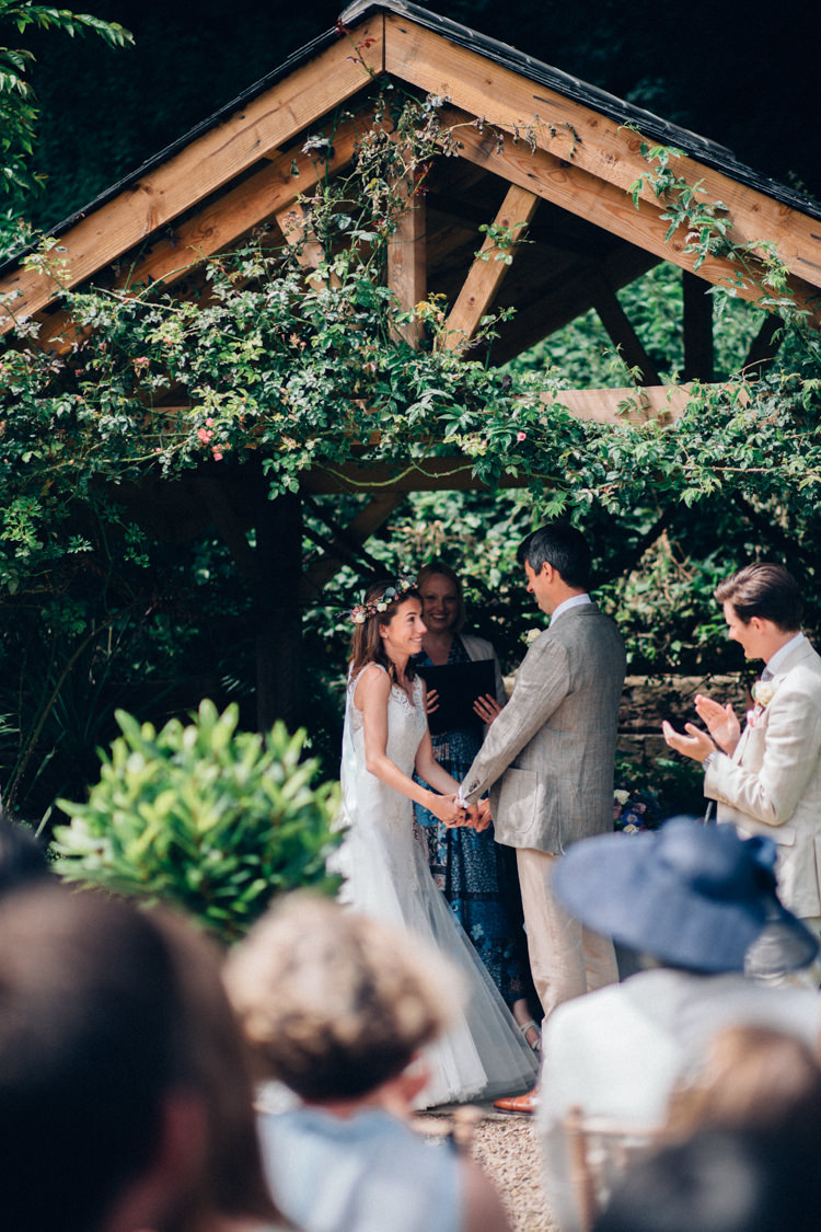 Outdoor Ceremony Wiltshire Rustic Home Made Farm Wedding http://blondiephotography.co.uk/