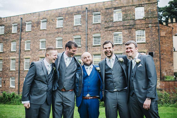 Groom Groomsmen Suits Blue Grey Mint Green Natural Wedding https://www.kerrywoodsphotography.com/