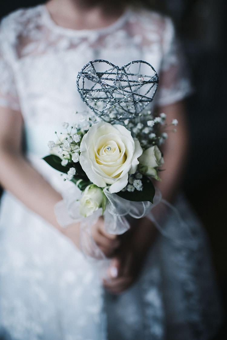 Flower Girl Wand Bouquet Flowers Mint Green Natural Wedding https://www.kerrywoodsphotography.com/