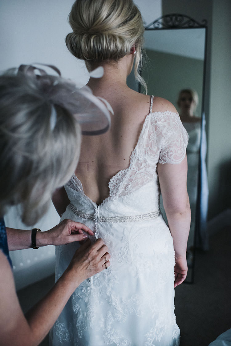 Maggie Sottero Lace Dress Gown Cap Sleeves Mint Green Natural Wedding https://www.kerrywoodsphotography.com/