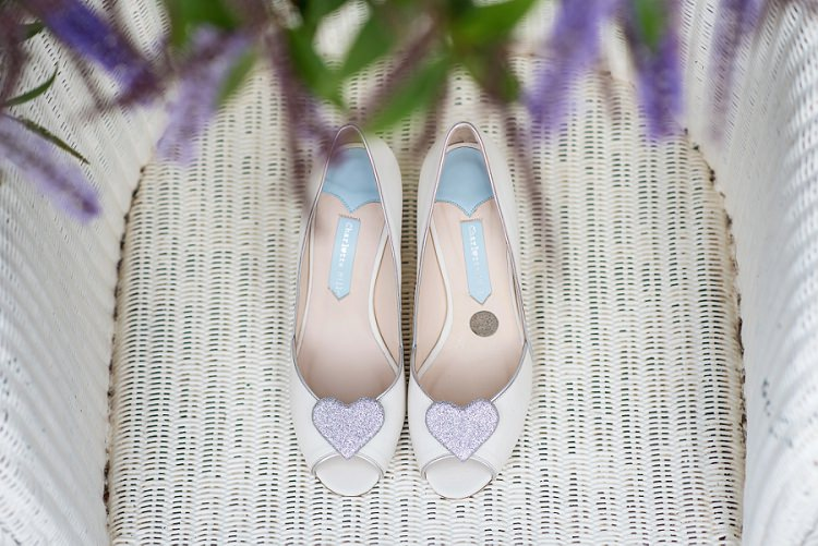Peep Toe Heart Shoes Bride Bridal Charlotte Mills Home Made Summer Village Hall Wedding http://www.sarareeve.com/