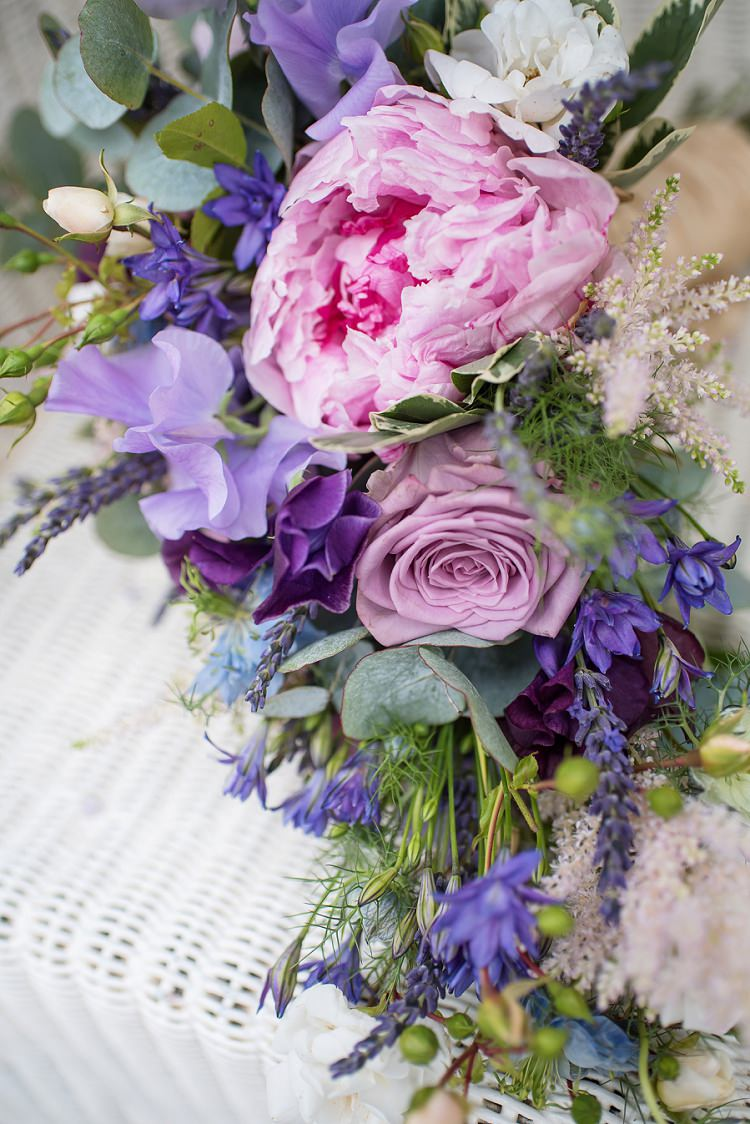 Peony Rose Pink Purple Bouquet Flowers Bride Bridal Home Made Summer Village Hall Wedding http://www.sarareeve.com/