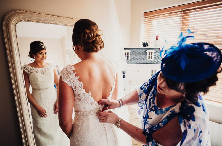 Lace Mori Lee Dress Gown Bride Bridal Quirky Crafty Rustic Barn Wedding http://www.stevebridgwoodphotography.co.uk/