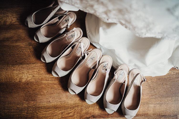 Bridesmaids Shoes Sling Back Peep Toe Quirky Crafty Rustic Barn Wedding http://www.stevebridgwoodphotography.co.uk/