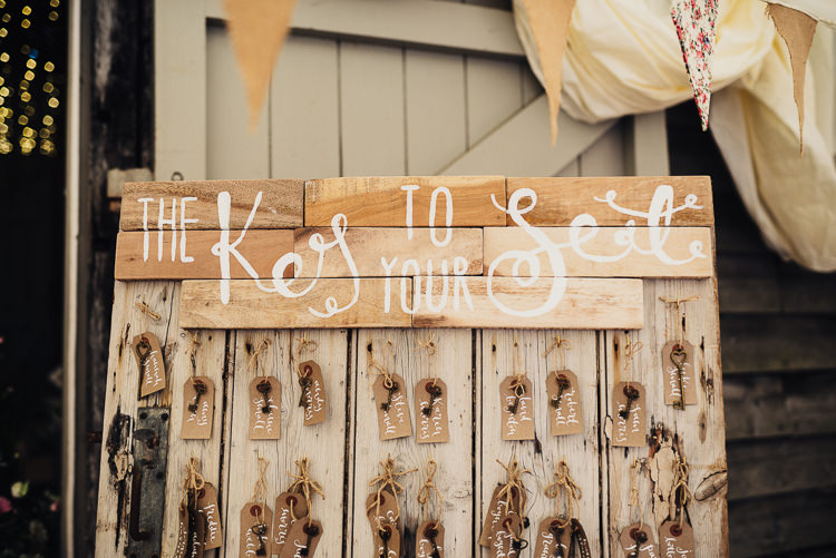 Key Seating Plan Table Chart Luggage Tag Wooden Quirky Crafty Rustic Barn Wedding http://www.stevebridgwoodphotography.co.uk/