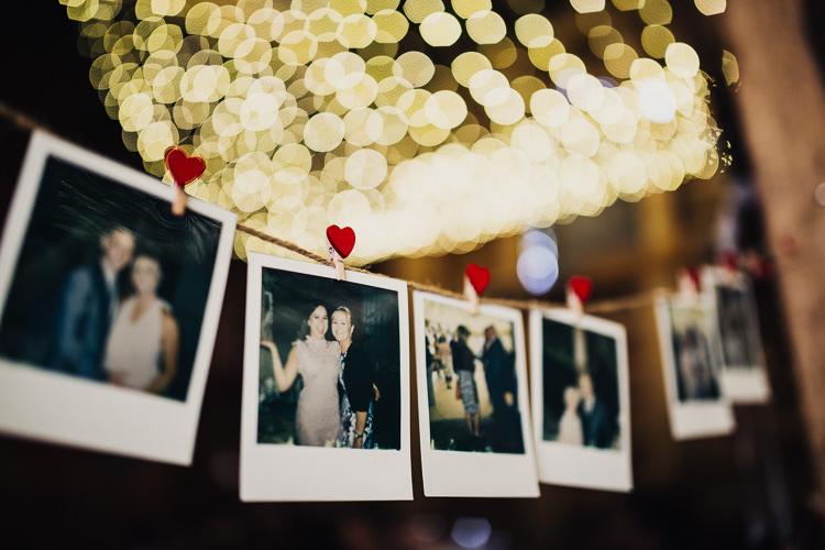 Polariod Photos String Bunting Quirky Crafty Rustic Barn Wedding http://www.stevebridgwoodphotography.co.uk/