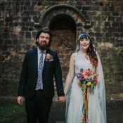 Colourful Indie Dinosaur Filled Wedding