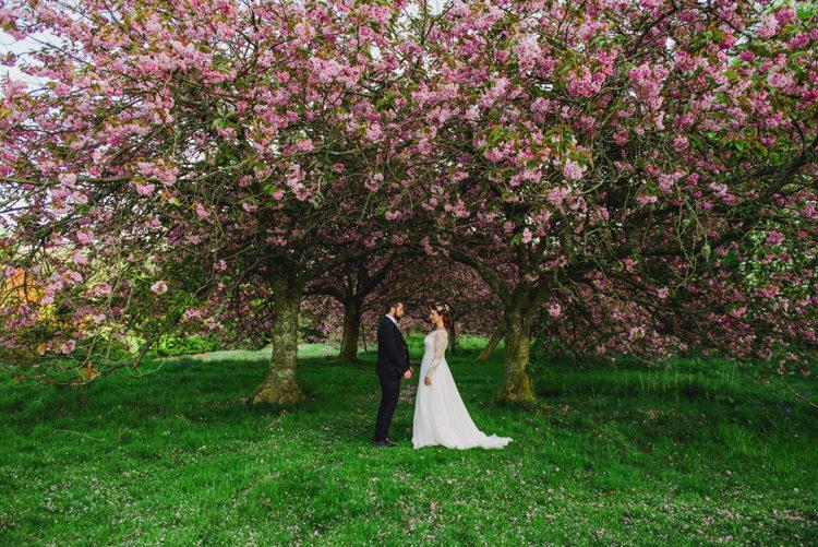 Cherry Blossom Tree Bride Groom Multicoloured Crafty Carnival Wedding http://alicethecamera.co.uk/