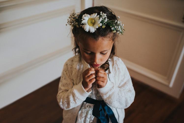 Daisy Flower Crown Girl Bridesmaid Multicoloured Crafty Carnival Wedding http://alicethecamera.co.uk/
