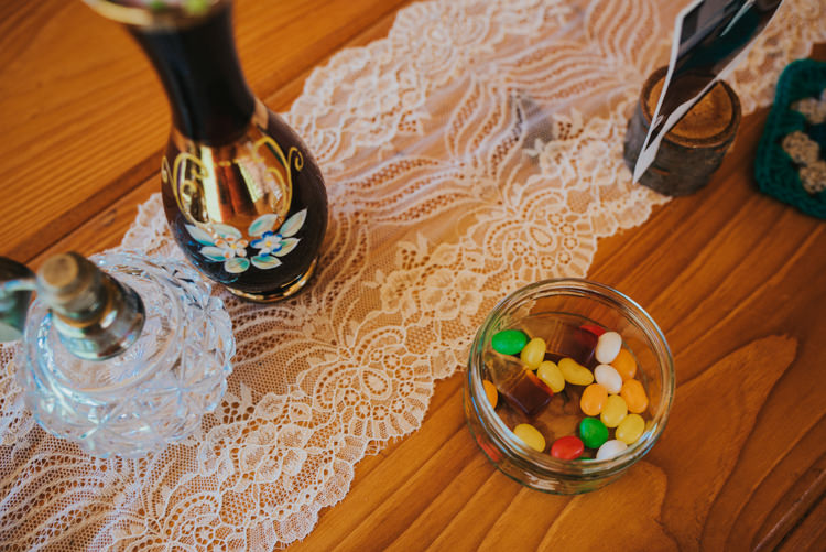 Lace Table Runners Decor Multicoloured Crafty Carnival Wedding http://alicethecamera.co.uk/