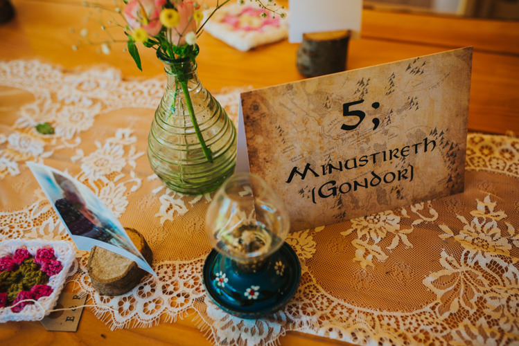 Lord of the Rings Table Names Multicoloured Crafty Carnival Wedding http://alicethecamera.co.uk/