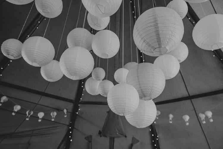 Hanging Lanterns Tipi Multicoloured Crafty Carnival Wedding http://alicethecamera.co.uk/