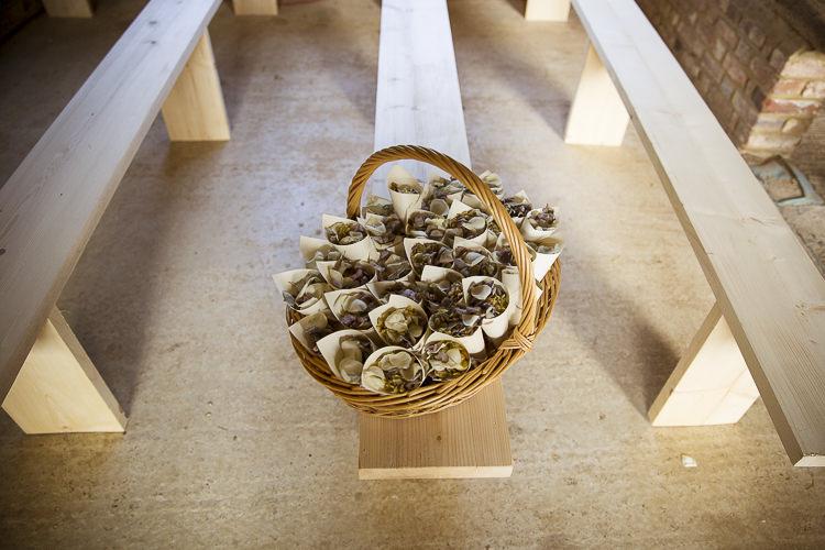 Confetti Cones Basket Boho Country Tipi Wedding http://www.gabriellemcmillan.com/