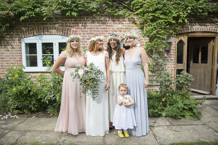 Pastel Bridesmaid Dresses Long Flower Crowns Boho Country Tipi Wedding http://www.gabriellemcmillan.com/