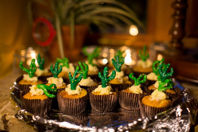 Cupcakes Mexican Inspired Colourful Cactus Wedding http://katherineashdown.co.uk/