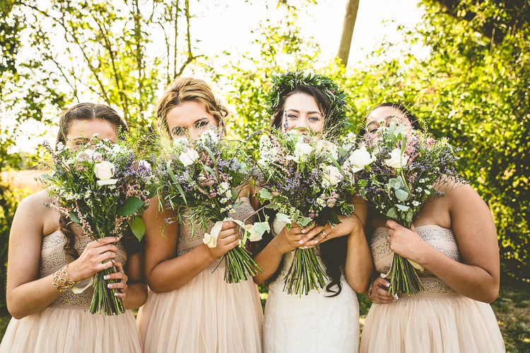 Bridesmaid Flowers Bouquets Wild Natural Rustic Bohemian DIY Barn Wedding http://lovethatsmilephotography.com/