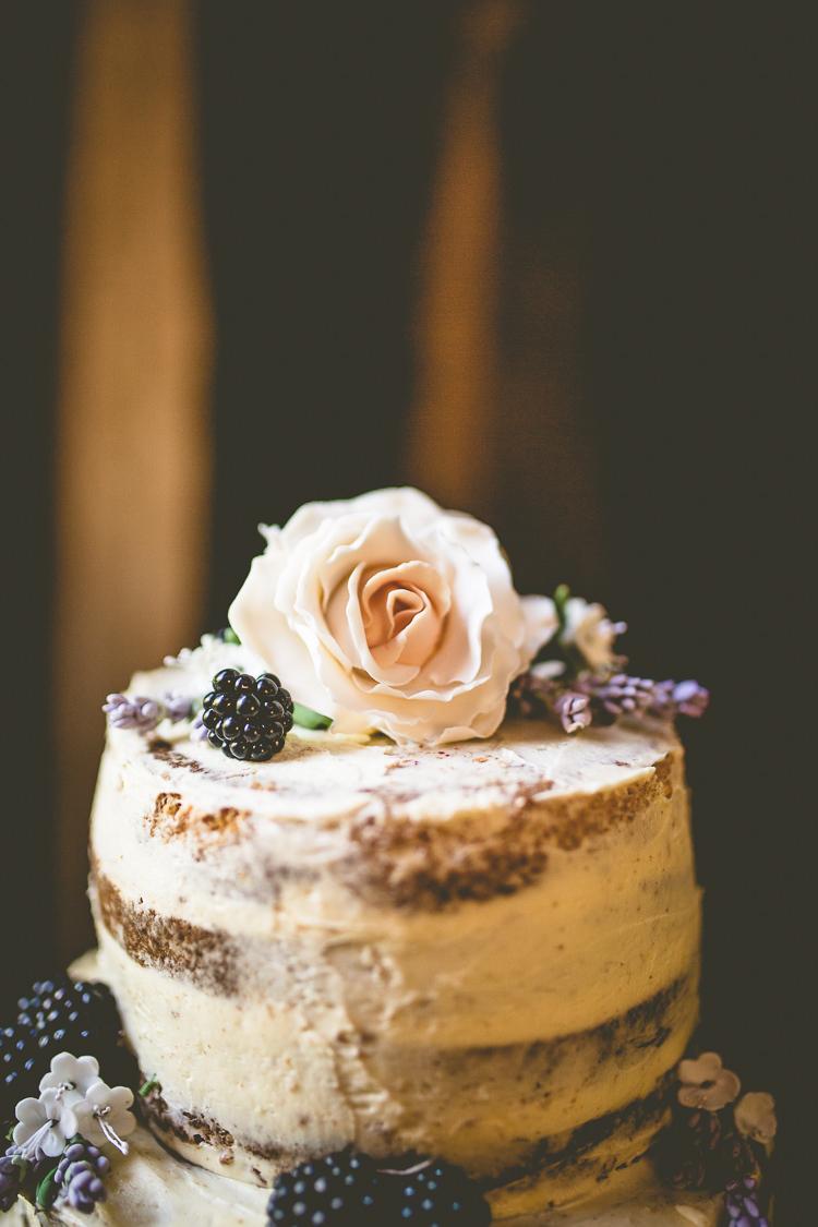 Naked Cake Layer Sponge Buttercream Flowers Topper Rustic Bohemian DIY Barn Wedding http://lovethatsmilephotography.com/
