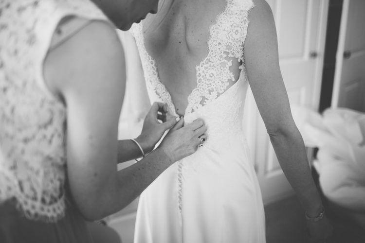 Lace Button Gown Dress Bride Bridal Pretty Quintessential English Country Garden Wedding http://blondiephotography.co.uk/