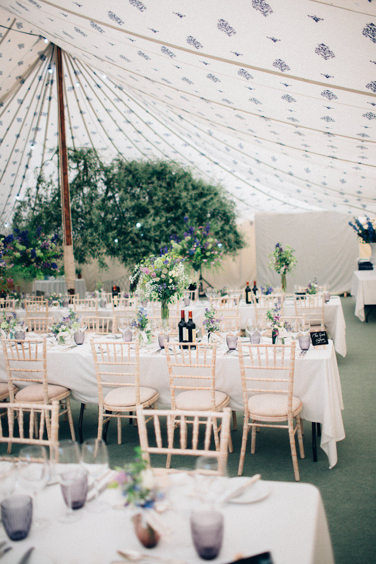 Marquee Pole Tent Trees Flowers Pretty Quintessential English Country Garden Wedding http://blondiephotography.co.uk/