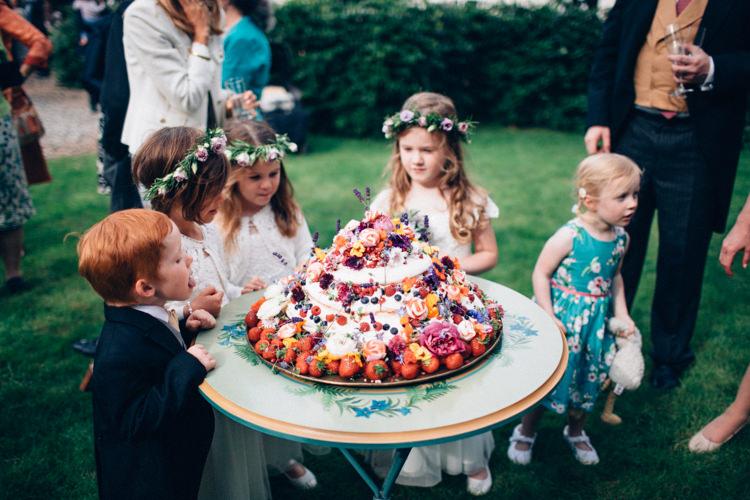Meringue Cake Cream Berries Flowers Pretty Quintessential English Country Garden Wedding http://blondiephotography.co.uk/