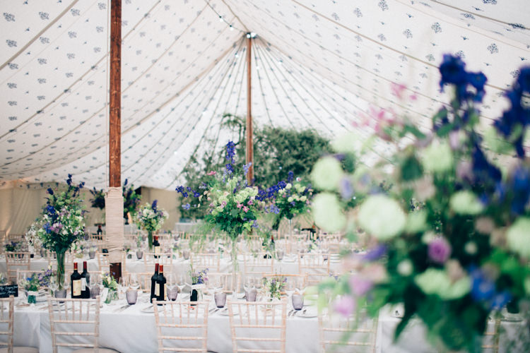 Marquee Pole Tent Blue Purple Decor Pretty Quintessential English Country Garden Wedding http://blondiephotography.co.uk/